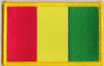 Guinea Embroidered Flag Patch, style 08.